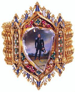 Table cut portrait diamond bracelet